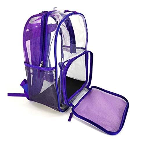 Tyki trasparente zaino per animali domestici borsa per trasporto gatto piccolo cane finestra a rete traspirante per viaggiare camminare escursionismo campeggio, viola