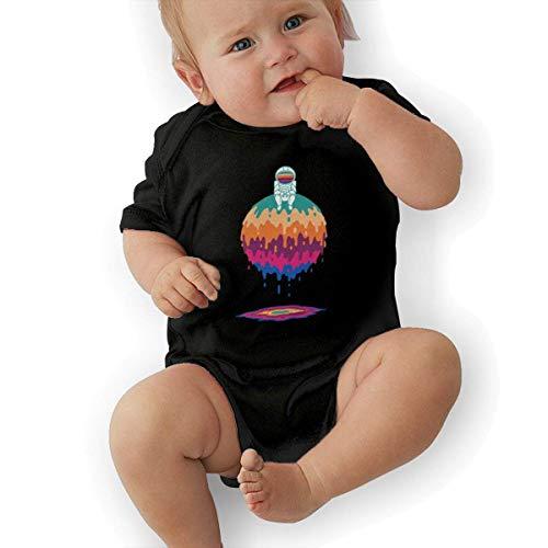 Babybekleidung Jungen Mädchen T-Shirts, Dripping Sphere Baby Newborn Cotton Short-Sleeve Bodysuit for Boys and Girls -