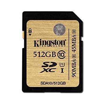 Kingston SDA10 - Tarjeta SD de 512 GB (UHS-I, CL 10)