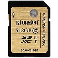 Kingston Carte SD Professionnelles SDA10/512GB UHS-I SDHC/SDXC Classe 10-512Go