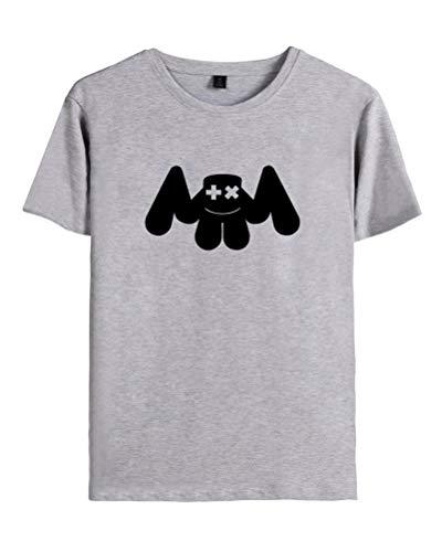 arshmello Fans DJ T-Shirt Cool Elektrischer Ton Tee Rundhals Kurzarm Tops für Liebespaar Herrn Damen Jugendliche B Grau Small ()