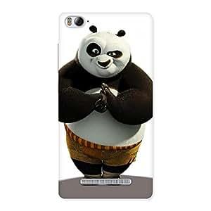 Enticing Punching Panda White Black Back Case Cover for Xiaomi Mi4i