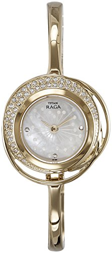 Titan Raga Analog Mother of Pearl Dial Women's Watch- 95003YM01J image