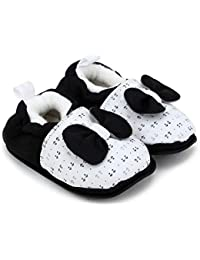 ad6c00274 Superminis Baby Girls and Baby Boys Cotton Printed Thick Base Booties Shoes  with Bow