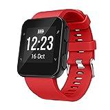 Wawer Bracelet de montre en silicone souple pour Smart Watch Garmin Forerunner 35, Red