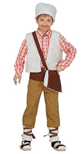 Guirca - Disfraz infantil de pastor, 3-4 años, color beige (42752.0)