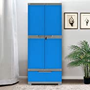 Nilkamal Freedom FMDR 1B Plastic Storage Cabinet with 1 Drawer (Deep Blue & G