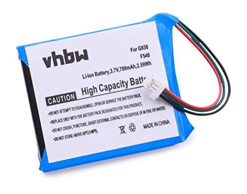 vhbw Batterie 700mAh (3.7V) pour Casque écouteurs Logitech Gaming Wireless Headset F540, G930, 981-000257 comme 533-000074.