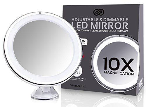 sanheshun-makeup-mirror-10x-magnifying-lighted-compact-mirror-with-suction-base-round