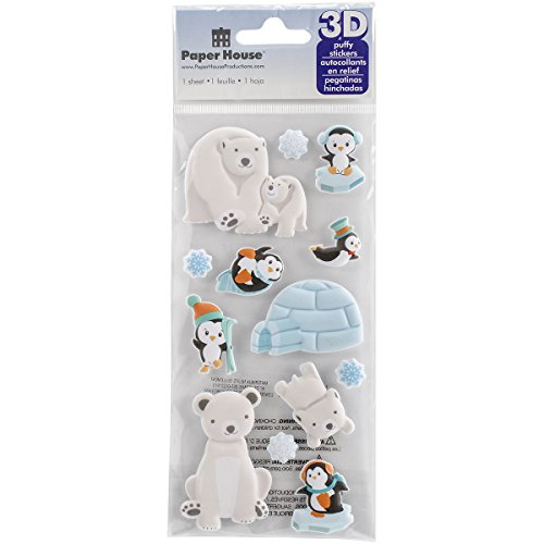 ions stp-0029e Polar Tiere 'Puffy Sticker (3er Pack) ()
