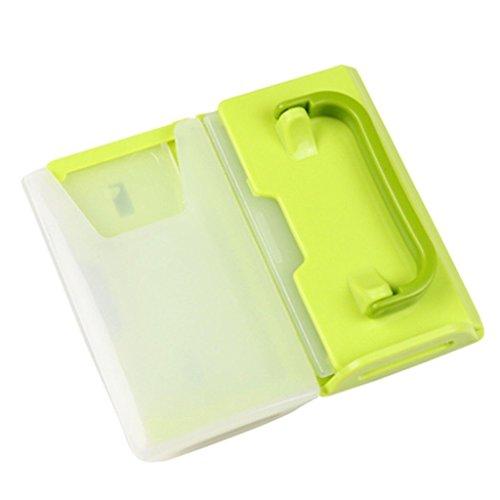 Beito Milch Box Halter 1x Kunststoff Baby Kinder Kleinkind self-helper Drink Saft Milch Beutel Box Halter Tasse (grün)
