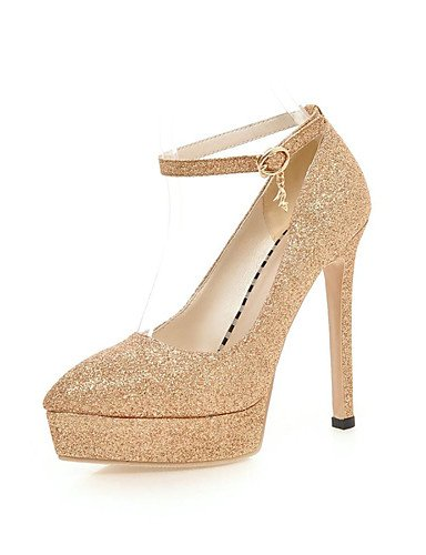 WSS 2016 Chaussures Femme-Bureau & Travail / Habillé / Décontracté-Noir / Rouge / Argent / Or-Talon Aiguille-Bout Pointu / Bout Fermé-Talons- silver-us8 / eu39 / uk6 / cn39