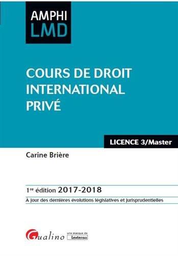 Cours de droit international privé