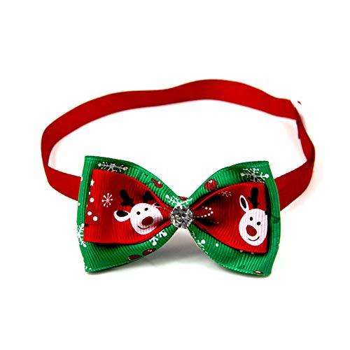 Scrox 1x Navidad Decoracion Mascotas Collar Perro Adornos Arco Perros Accesorios Abrigos Lindo Pajarita Gato Peluche Perro Juguete Mascotas Navidad Ropa (Estilo 3)