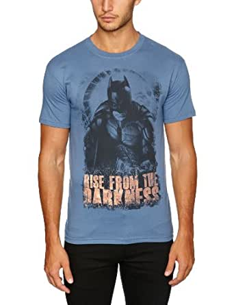Amazon Exclusive The Dark Knight Rises - Rise From Men's T-Shirt Indigo Blue Small