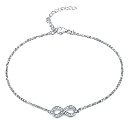 Gorgeous elegant INFINITY / Bow ANKLET with DIAMANTES, STERLING SILVER Ankle bracelet will include pretty gift box