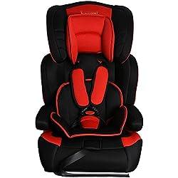 besrey® ECE Asiento de coche Auto asiento asiento infantil para coche 9-36kg Grupo 123Negro & Rojo