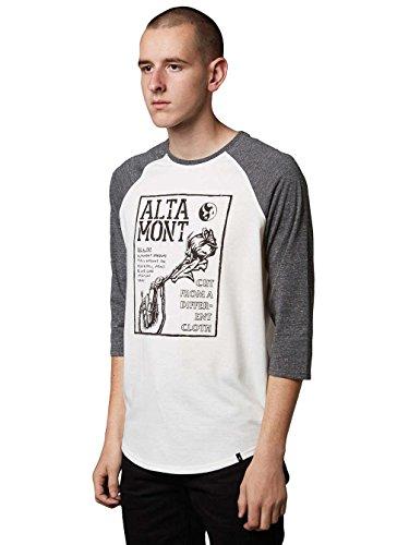 Herren Langarmshirt Altamont Flyer Raglan T-Shirt White/Grey