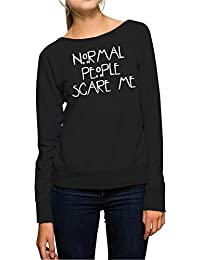 Normal People Scare Me Sweater Girls Negro