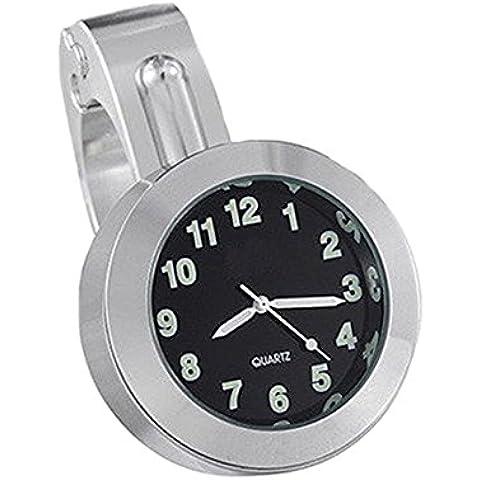 Fuente de prestaciones de la moto reloj de mesa universal de galjanoplastia de Harley coches GM aluminio aleación manos reloj color gris