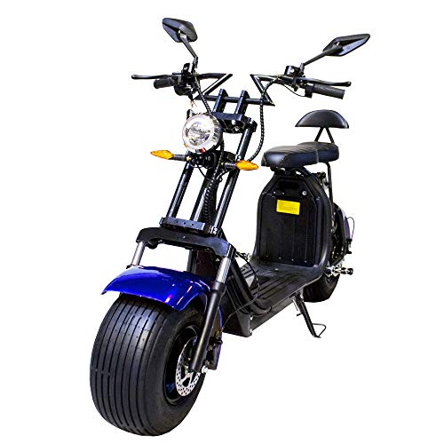 Moto eléctrica CityCoco Last Mille. 2000W/18.2aH (Doble Batería). Modelo Azul/Negro. Versión XI.