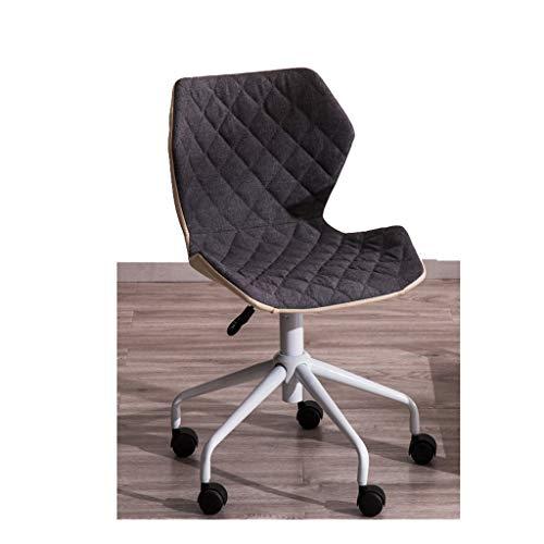 Home lounge stuhl computer spiel stuhl studie bürolift drehstuhl höhenverstellbar baumwolle leinen weich sitzkissen hochwertige riemenscheibe natürlichen minimalismus KADJ (Color : Gray) -