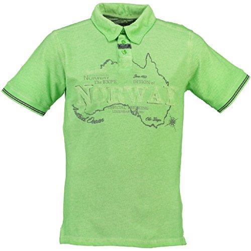 GEOGRAPHICAL NORWAY KEBEL Polohemd mit kutzen Ärmeln Harren grün L-GREEN