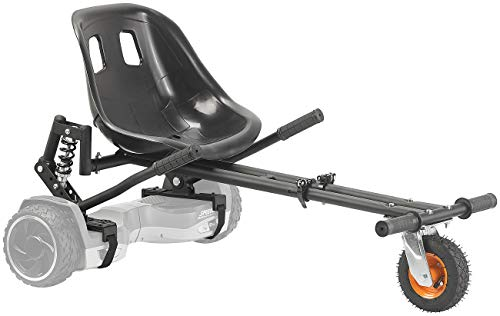 """Speeron Hoverboard Kart: Nachrüst-Kart-Sitz mit Federung für Elektro-Scooter (10\""""), bis 120 kg (Hoverboard-Kart-Aufsatz)"""