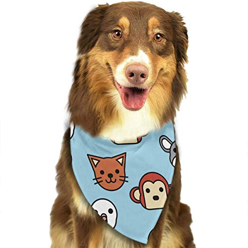 Osmykqe Dog Bandanas Animal Avatar Adjustable Dog Collar Cat Scarf Puppy Bandans Pet Accessories