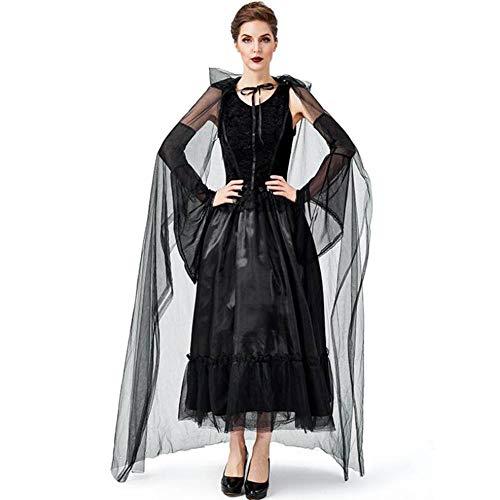 ASDF Halloween Kostüm mysteriöse Hexe Mantel Vampir dunkle Hexe COS Kleidung (Dunkel Kostüm)