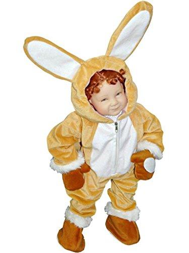 Hasen-Kostüm, J44 Gr. 92-98, für Babies und Klein-Kinder, Häschen-Kostüm, Hasen-Kostüme Hase Kinder-Kostüme Fasching Karneval, Kinder-Karnevalskostüme, Kinder-Faschingskostüme, Geburtstags-Geschenk