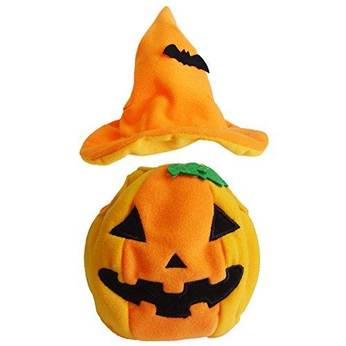 o Halloween-Kostuem MS Kuerbis Stofftier Katze ()