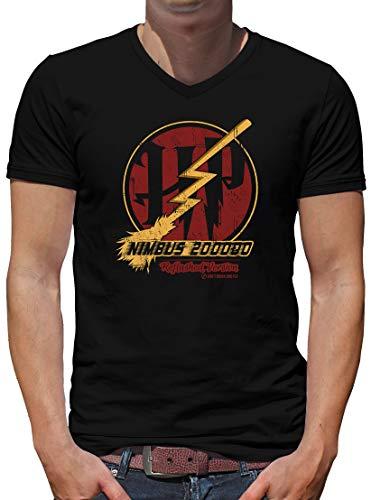 TShirt-People Nimbus 200 000 V-Kragen T-Shirt Herren XXXL Schwarz