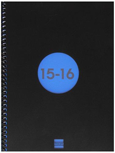 Finocam 633121016 - Agenda escolar espiral e10 día / pagina, color azul