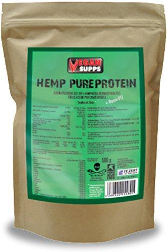 Hochwertiger HANFPROTEIN Shake, 100%iges HANF Protein als hypoallergene Eiweiß-Quelle aus kontrolliert biologischem Anbau in Rohkost-Qualität ohne Aroma und Süßungsmittel - Made in Germany