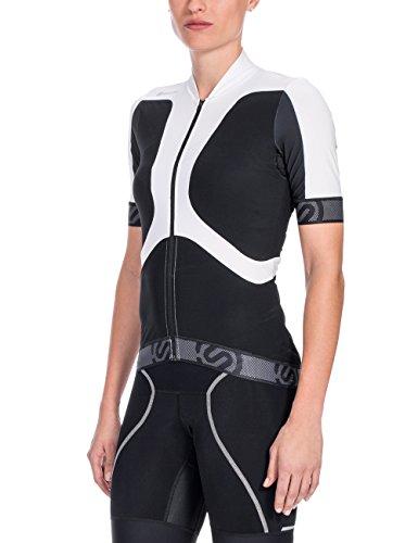 Skins pour femme à manches courtes en jersey tremola cycle Multicolore - Noir/Blanc