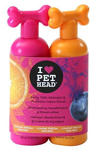 Pet Head Dirty Talk Shampoo und tierische Cremespülung