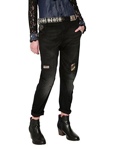 Desigual Damen Denim_Camel Boyfriend Jeans, Blau (Black 5009), W32