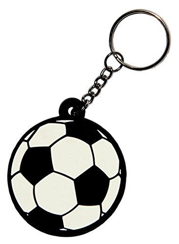 Fußball Schlüsselanhänger aus Kautschuk Gummi auch als Anhänger für Tasche -