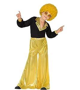 Atosa- Guerrero Disfraz Disco, Color amarillo, 3 a 4 años (28303)