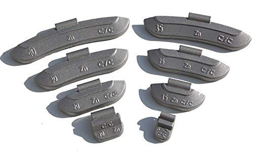 5-30g Schlaggewichte Auswuchtgewichte Wuchtgewichte Sortiment für Stahlfelgen 600 Stück (je 100 von 5g, 10g, 15g, 20g, 25g und 30g) …