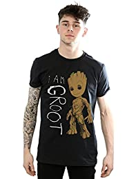 Marvel Men's Guardians of The Galaxy I Am Groot Scribbles T-Shirt