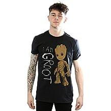 Marvel Los guardianes de la galaxia de los hombres Soy Groot Scribbles camiseta grande negro