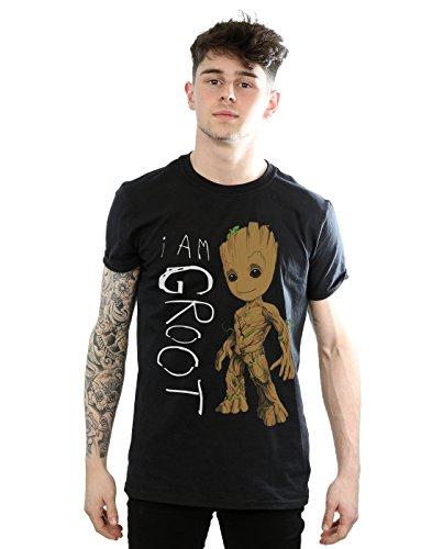 Marvel - Camiseta - Manga corta - para hombre negro negro Medium
