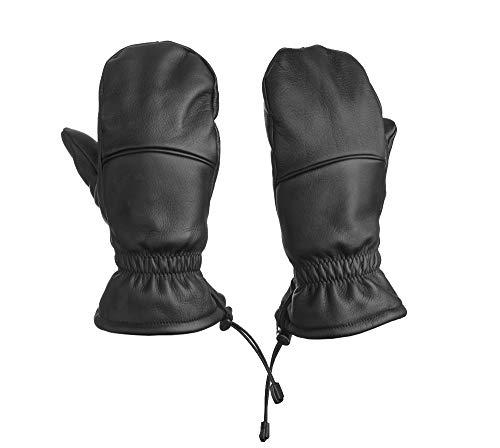 Frühling Snowboard Handschuhe (Fünf Finger Fäustling Leder: Hybrid Handschuh - Unisex - Bestes Material - ideal für Freizeit & Sport (L))