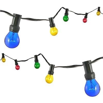 Party-Lichterkette, 10 große Lampen, 25 W, Außen, GS von Haushalt International - Lampenhans.de