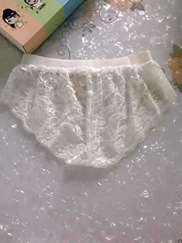 Fun-Unterwäsche Erotische Kostüme für Damen Sexy Unterwäsche Jahr Neue sexuelle sexy Unterwäsche Spitze Damen Perspektive Slip Leggings weiß XL (Neue Jahre Baby Kostüm)