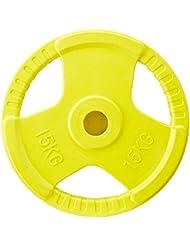 Gorilla Sports Hantelscheibe 50/51mm Olympia Gummi Gripper 1,25-25 KG mit Eingriffen