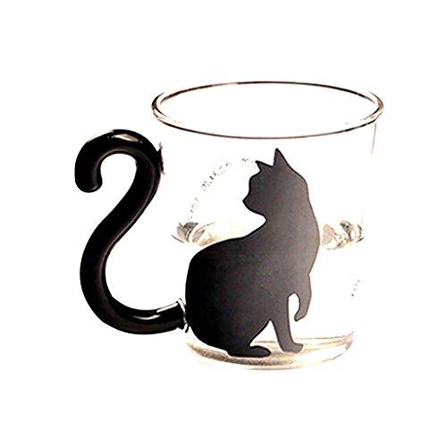 Palabras Inglesas Linda Creativa De Vidrio Gatito Gato Taza De La Taza De Té Taza De Leche De La Taza De Café