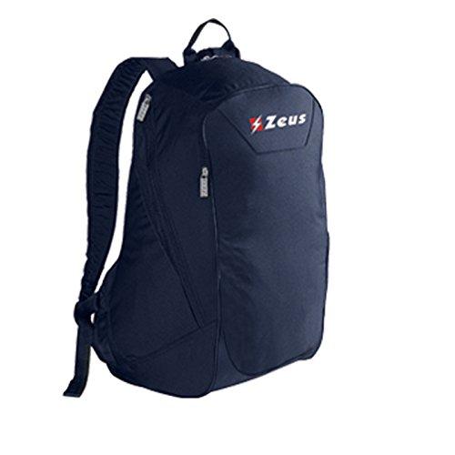 Zeus Zaino Small In Herren Rucksack Daypack Backpack Fußball Umhängetasche 36 x 23 x 45 cm (SCHWARZ) BLAU